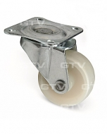 Furniture castors with plastic ball bearings